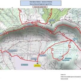 Nuova rete di sentieri intorno al lago di Vico