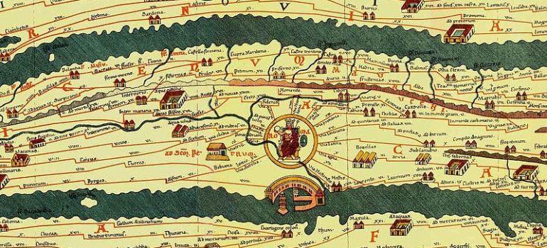 Cartina Antica Roma.Le Antiche Mappe Stradali Appenninico It