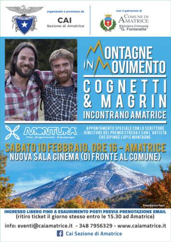 """Paolo Cognetti e Nicola Magrin ospiti di """"Montagne in Movimento"""" ad Amatrice"""