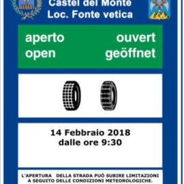 Finalmente aperta la strada Castel del Monte – Fonte Vetica, ma meglio informarsi prima: tutte le informazioni utili