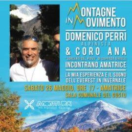 """Domenico Perri e il coro ANA di Sappada ad Amatrice per """"Montagne in movimento"""""""