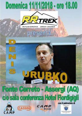 Continua il giro di conferenze di Denis Urubko in Appennino Centrale