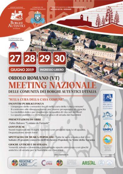 A Oriolo Romano, il Meeting dei Borghi Autentici d'Italia