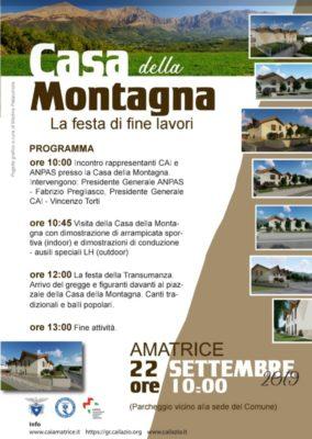 Festa ad Amatrice per la nuova Casa della Montagna