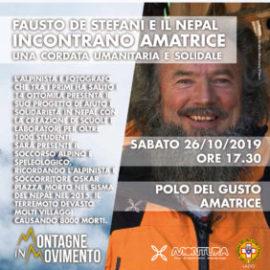 """FAUSTO DE STEFANI AD  AMATRICE PER """"MONTAGNE IN MOVIMENTO"""""""